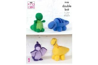 King Cole 9105 Dinosaurs in Big Value DK 50g (leaflet)