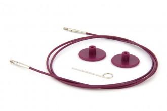 KnitPro Interchangeable Circular Knitting Needle Cables - Purple Plastic - 80cm