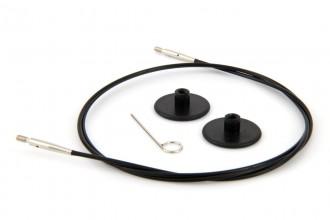KnitPro Interchangeable Circular Knitting Needle Cables - Black Plastic - 80cm