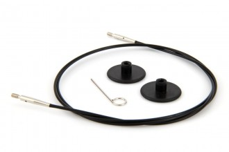 KnitPro Interchangeable Circular Knitting Needle Cables - Black Plastic