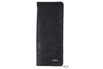 KnitPro Hard Fabric Case for 30cm Single Point Needles - Black Jacquard