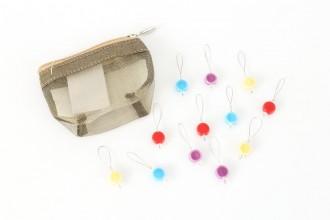KnitPro Zooni Bead Stitch Markers - Gems (Set of 12)