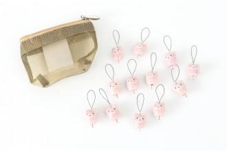 KnitPro Zooni Bead Stitch Markers - Meow (Set of 12)