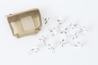 KnitPro Zooni Bead Stitch Markers - Peace (Set of 12)