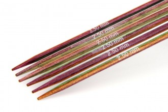 KnitPro Double Point Knitting Needles - Symfonie Wood - 15cm (2.50mm)
