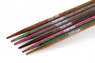 KnitPro Double Point Knitting Needles - Symfonie Wood - 15cm (3.00mm)