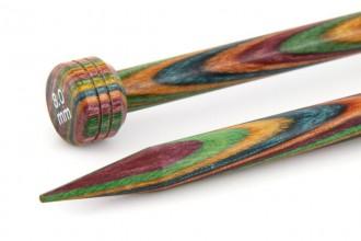 KnitPro Single Point Knitting Needles - Symfonie Wood - 25cm (8.00mm)