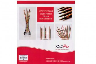 KnitPro Double Point Knitting Needles - Symfonie Wood - 20cm Socks Kit