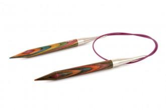 KnitPro Fixed Circular Knitting Needles - Symfonie Wood - 80cm (9.00mm)