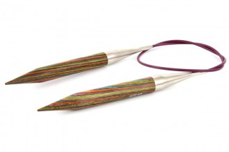 KnitPro Fixed Circular Knitting Needles - Symfonie Wood - 80cm (12.00mm)