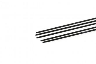 KnitPro Double Point Knitting Needles - Karbonz - 15cm (1.25mm)