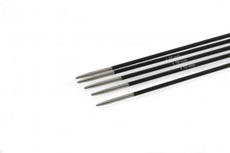 KnitPro Double Point Knitting Needles - Karbonz - 15cm (1.50mm)