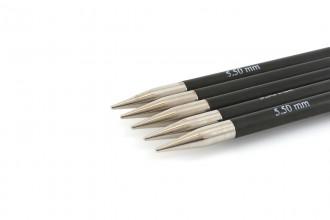 KnitPro Double Point Knitting Needles - Karbonz - 15cm (5.50mm)