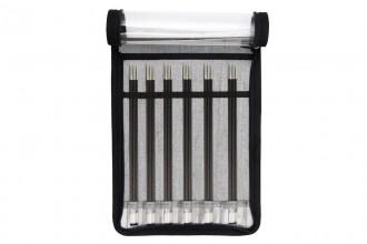 KnitPro Double Point Knitting Needles - Karbonz - 20cm (Set of 6)