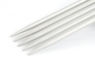 KnitPro Basix Double Point Knitting Needles - Aluminium - 15cm (3.50mm)