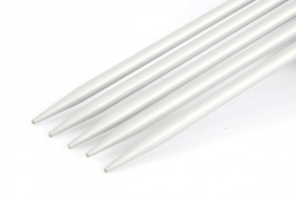 KnitPro Basix Double Point Knitting Needles - Aluminium - 15cm (3.25mm)