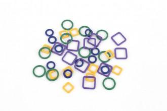 KnitPro Linea Metal Stitch Markers (Set of 40)