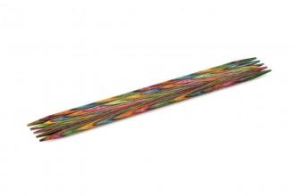 KnitPro Double Point Knitting Needles - Symfonie Wood - 15cm (6.50mm)