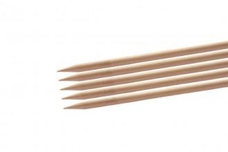 KnitPro Basix Double Point Knitting Needles - Birch - 20cm (8.00mm)