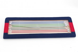 KnitPro Single Point Knitting Needles - Zing - 30cm Set of 8