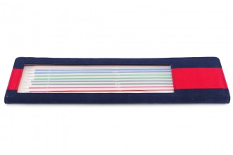 KnitPro Single Point Knitting Needles - Zing - 40cm Set of 8