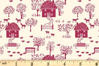 Liberty Fabrics - The Cottage Garden - Cottage Lane - Red (04775616/X)