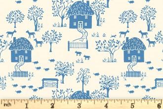 Liberty Fabrics - The Cottage Garden - Cottage Lane - Blue (04775616/Y)
