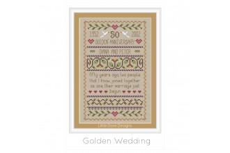 Little Dove Designs - Golden Wedding (Cross Stitch Chart)