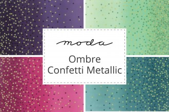 100/% quilting cotton cut to order 10807 201M Moda Ombre Confetti Metallics Magentac by V and Co