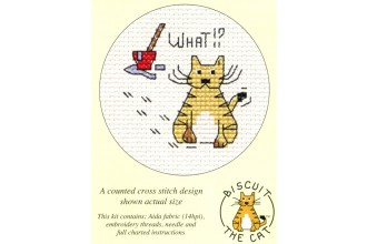 Mouseloft - Biscuit the Cat - What!?  (Cross Stitch Kit)