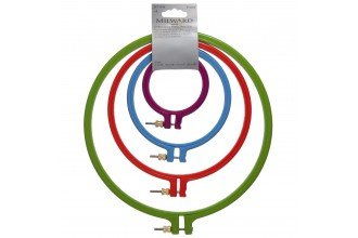 Milward Embroidery Hoop Set - Non-Slip - Plastic - 7-22cm / 3-9 (Pack of 4)