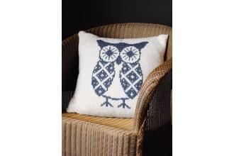 Rowan - Rowan At Home - Oswald Owl Cushion by Martin Storey in Hemp Tweed (downloadable PDF)