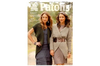 Patons 3741 - Wool Blend Aran (leaflet) Jackets and Vests for Women