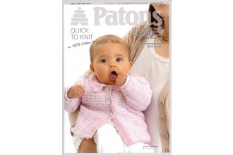 Patons 3771 - 100% Cotton 4 Ply (leaflet) Jacket, Beanie and Headband for Babies