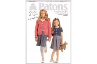 Patons 3773 - Smoothie DK (leaflet) Cardigan for Girls