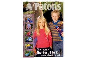 Patons 3847 - Fab DK (booklet) Dinosaur Toys and Sweater