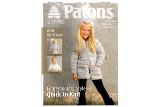 Patons 3850 - Wool Blend Aran (leaflet) Contemporary Styles - Quick to Knit