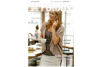 Patons 4054 - 100% Cotton DK Ladies Cardigan (leaflet)