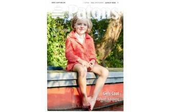 Patons 4058 - 100% Cotton DK Girls Coat (leaflet)