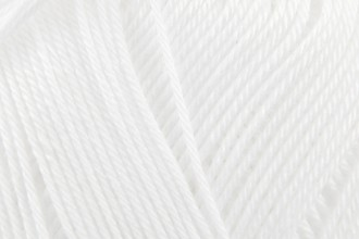 Patons 100% Cotton 4ply - White  (01691) - 100g