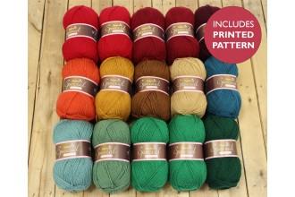 Attic24 - Yuletide Blanket (Stylecraft Yarn Pack)