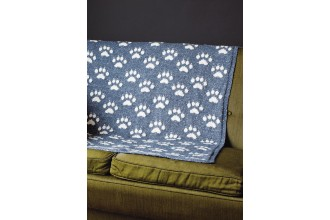 Rowan - Rowan At Home - Paws for Thought Blanket by Martin Storey in Hemp Tweed (downloadable PDF)