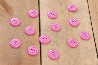 Attic24 - Pink Bunting Buttons (Pack of 13)