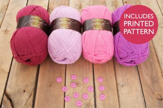 Attic24 - Pink Bunting (Stylecraft Yarn Pack with 13 Buttons)