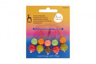 Pony Hand Coloured Bead Stitch Markers - Set of 5