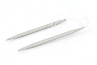 Pony Fixed Circular Knitting Needles - Grey - 80cm