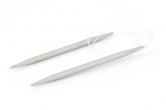 Pony Fixed Circular Knitting Needles - Aluminium - 40cm (4.00mm)