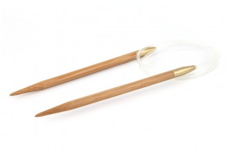 Pony Fixed Circular Knitting Needles - Bamboo - 80cm