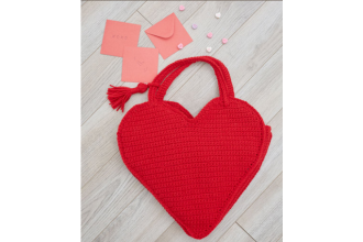 Red Heart - Heart Tote Bag in Super Saver (downloadable PDF)