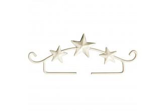 Rico Decorative Embroidery Hanger, Stars, White, 11cm